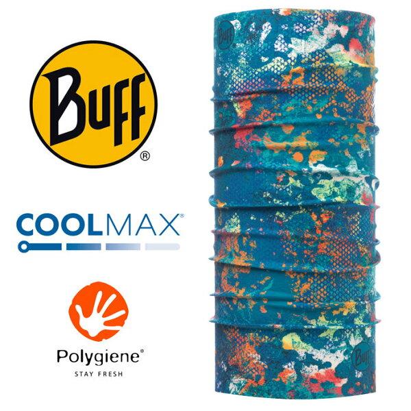 【Buff西班牙】魔術頭巾系列COOLMAX抗UV頭巾-水光迷彩/BF117012