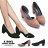 格子舖*【KW9210】MIT台灣製 OL上班族 宴會正式場合必備 素面質感麂皮 5.5中粗跟尖頭包鞋 中跟鞋 2色 0