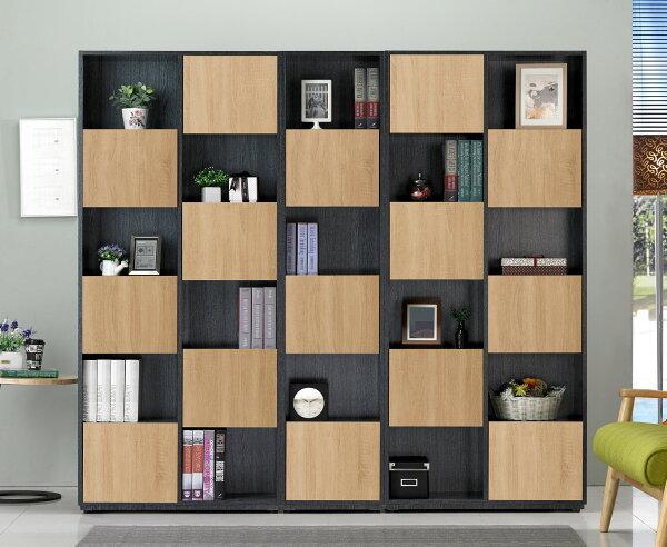 【尚品傢俱】JF-377-6布拉格2.7尺鐵刀橡木紋六單門書櫃─右