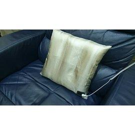 【軟Q椅墊抱枕組-雙面全銀+4.5M線+端子+床邊手環組】揭地寶 (接地寶貝) 含100%銀纖布枕套--導電抗菌防臭—全新開發 (PK歐美接地枕套產品80美金)