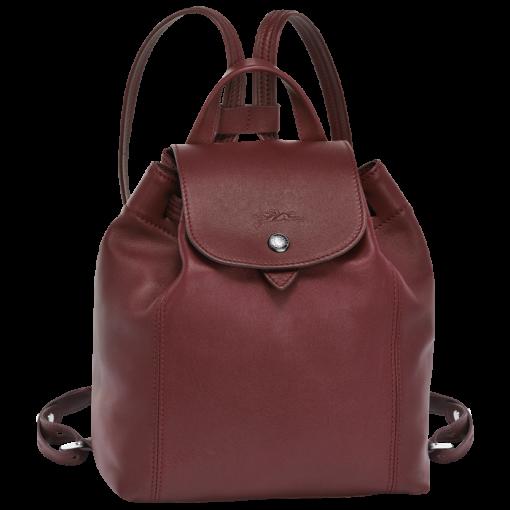 LONGCHAMP Le Pliage Cuir 女士系列粉红色羊皮超小號雙肩包 L1306737018 7