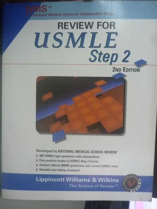 【書寶二手書T8/進修考試_ZBE】NMS Review for USMLE Step 2 2/e