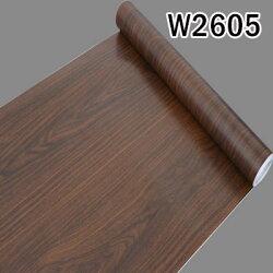 W2605 仿木紋PVC自黏式 壁貼 壁紙 地板/家具/櫥櫃/ 地板貼紙 防水材質 (1捲=45x1000公分) (預購+現貨)