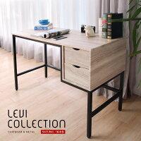預購 LEVI李維工業風個性鐵架雙抽書桌/不含椅 / H&D-HD東稻家居-居家生活推薦