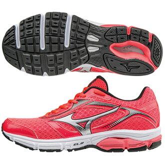 J1GD161304﹝桃紅X銀﹞WAVE IMPETUS 4 (W) 一般型女慢跑鞋 S【美津濃MIZUNO】