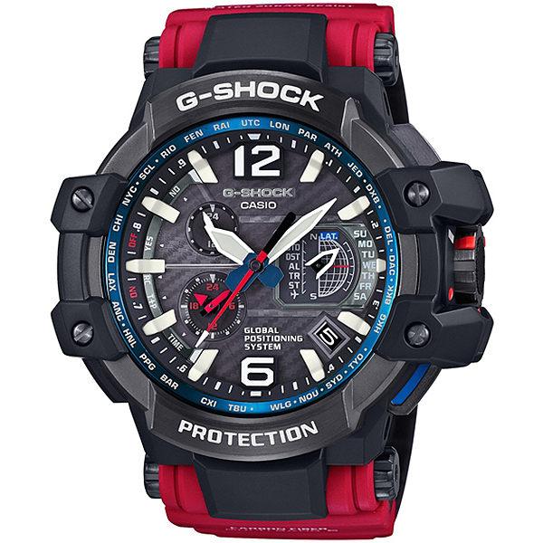 CASIO G-SHOCK GPW-1000RD-4A GPS陸海空防泥概念電波腕錶/56.1mm