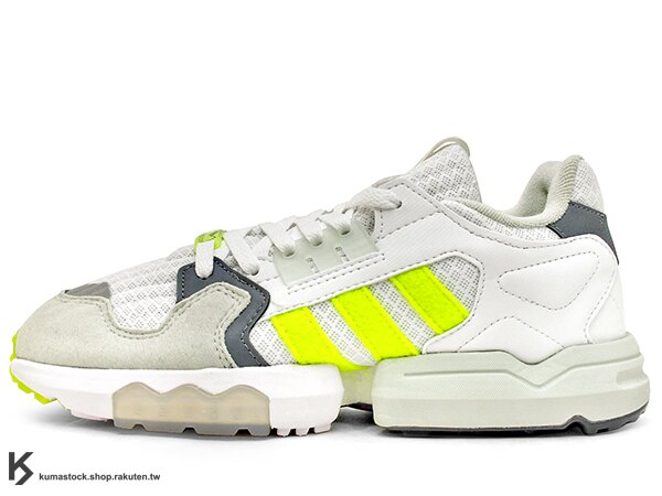 [20% OFF] 2019 限量發售 英國知名鞋舖 FOOTPATROL x adidas Consortium ZX TORSION FP 灰白螢光黃 內藏 BOOST 緩震科技 (EF7681) ! 0