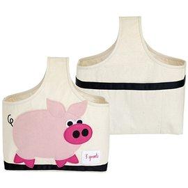 加拿大 3 Sprouts 手提收納包-粉紅豬【收納方便,攜帶便利】【紫貝殼】