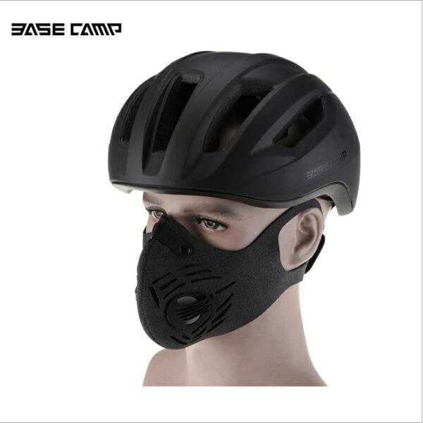 貝斯卡自行車戶外騎行防塵防霧霾口罩活性碳pm2.5防護面罩