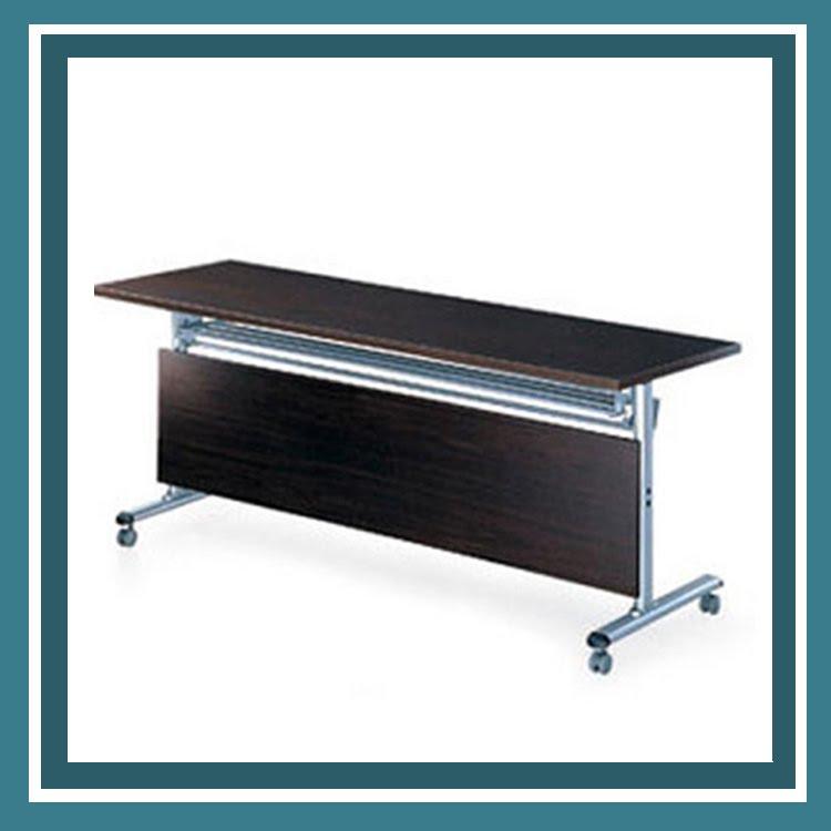 『商款熱銷款』【辦公家具】FCT-1560E  黑胡桃木折合式 會議桌 書桌 鐵桌 摺疊 臨時 活動