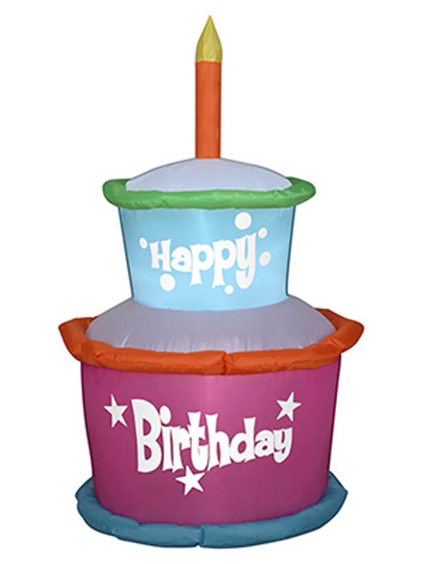 X射線【W7714】雙層生日蛋糕充氣,萬聖節/萬聖佈置/充氣擺飾好收納/萬聖充氣/死神/會場佈置/打卡神器/舞會道具/拱門