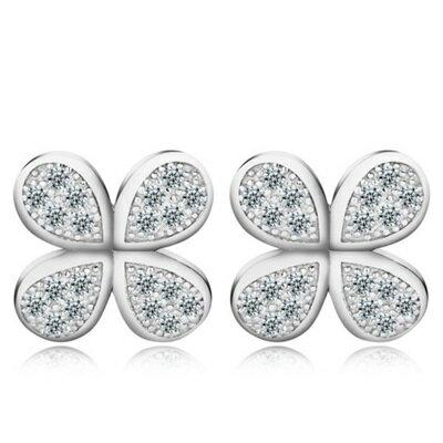 ~925純銀耳環 鑲鑽耳飾~大方優雅 七夕情人節生日 女飾品73al55~ ~~米蘭 ~