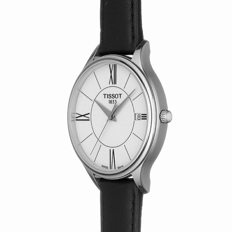 TISSOT 天梭 T1032101601800 BELLA ORA 皮帶石英女腕錶 38mm 5