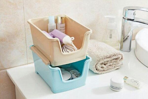 【省錢博士】塑料可疊加收納盒 / 桌面遙控器收納 / 梳妝台化妝品整理盒