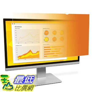 [106美國直購] 3M GF230W9B 螢幕防窺片 3M Gold Privacy Filter for 23吋 Widescreen Monitor
