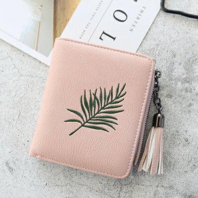 新款韓版短款少女士零錢包小清新折疊可愛多功能學生錢夾皮夾