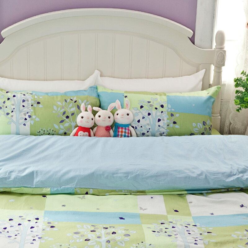 床包 / 單人-精梳棉【夏日綠洲】含一件枕套,戀家小舖台灣製D03-AAS201