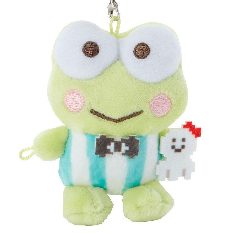 大眼蛙 遊戲街 絨毛珠鍊吊飾娃 F124 吊飾 掛飾 鑰匙圈 玩偶 布偶 收藏 擺設 真愛日本