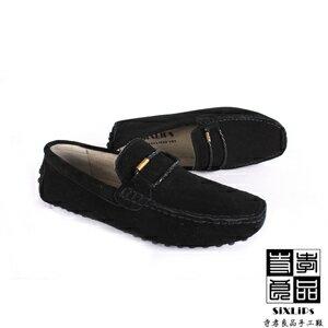 寺孝良品 義式雅痞編織麂皮豆豆鞋 黑 2