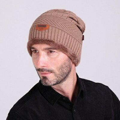 ~針織毛帽男帽子~ 加絨保暖滑雪男 6色73if3~ ~~米蘭 ~