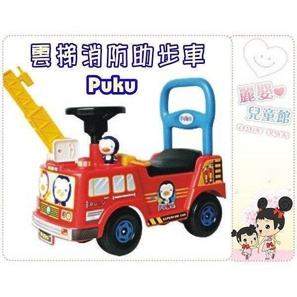 麗嬰兒童玩具館~藍色企鵝puku-寶貝騎乘工程車-紅警車 / 白救護 / 紅消防 腳行車助步車 2