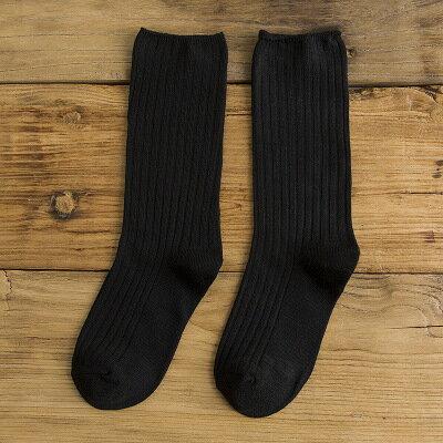 網紅款堆堆襪女日系秋冬襪子純棉款女士襪子純色學院風百搭中筒襪 4