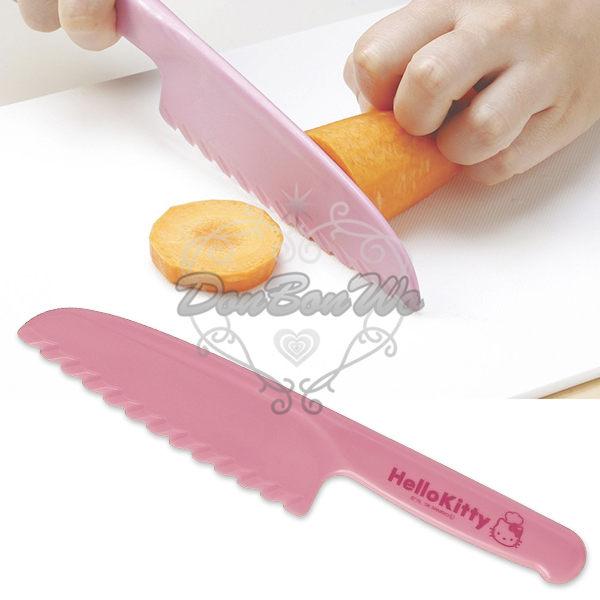 KITTY兒童安全菜刀塑膠學習刀粉116230海渡