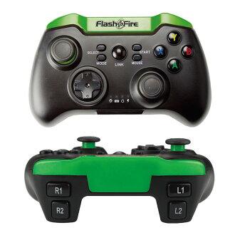 FlashFire ACTION PAD 藍芽智慧遊戲手把 (Android/iOS/PC) 藍芽手把/藍芽搖桿/手機遊戲手把/iphone手把 綠黑色