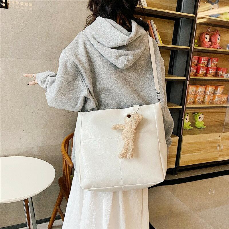 質感包包女大容量2021新款斜挎包女洋氣復古ins韓版學生托特單肩