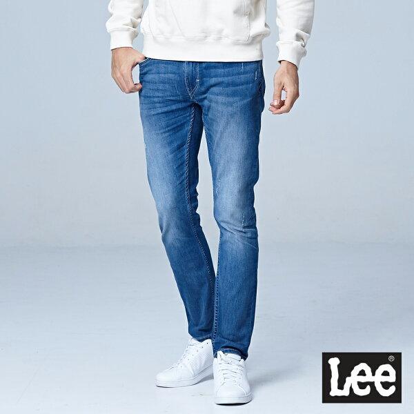 Lee709七分低腰合身小直筒牛仔褲-淺藍色-男款