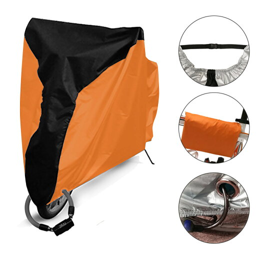 Bicycle Bike Cover Outdoor Rain Dust Protector Water Resistant Anti-UV XL Orange 6b5d1728f8bfc06f4dce1af166d4e053