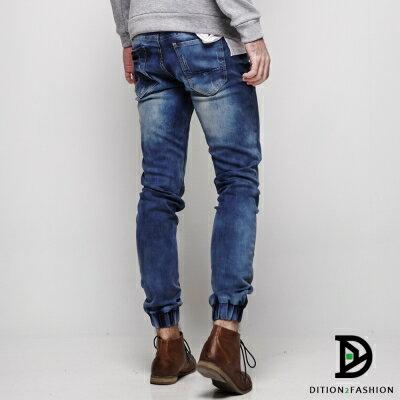 DITION 藍染DENIM牛仔縮口褲 雜誌FUJI ROCK