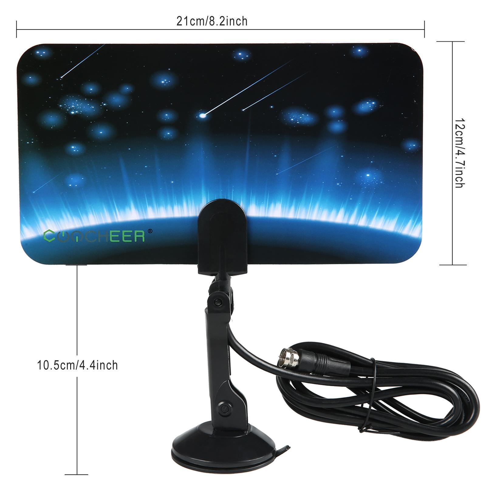 Digital TV Antenna Signal HDTV DTV Box Ready HD VHF UHF FM Stereo Flat Design 4