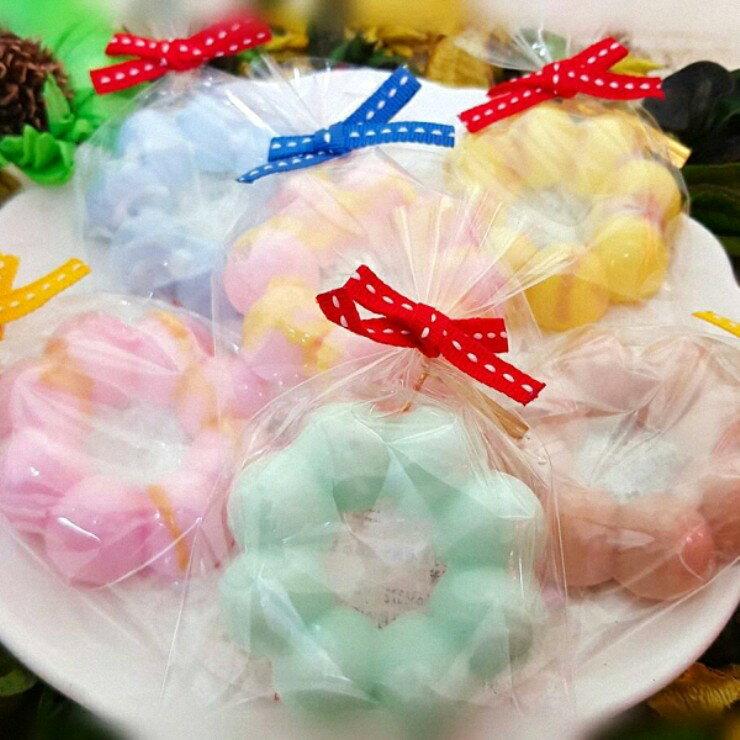 婚禮小物-波堤甜甜圈手工皂 (一組5入) 甜點皂/節日禮品【棠逸手作皂 】