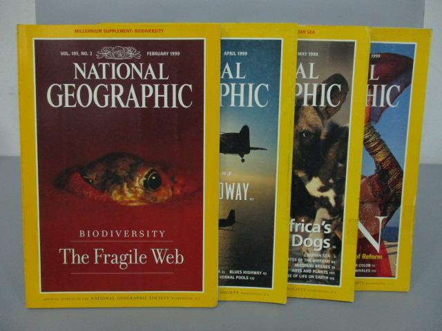 ~書寶 書T2/雜誌期刊_PHO~國家地理_1999  2^~7月間_4本合售_The F