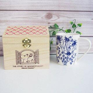 小不點房屋木盒馬克杯 陶瓷 水杯 嚕嚕咪 餐具 日貨  J00012199