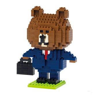 《 Nano Block 迷你積木 》NBH-061 LINE熊大 (上班族)