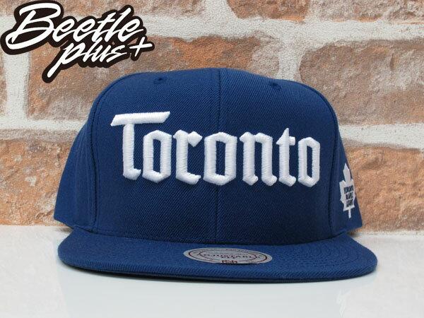 BEETLE PLUS 全新 MITCHELL&NESS NHL TORONTO 多倫多 楓葉 藍 白字 後扣 棒球帽 SNAPBACK MN-371 0