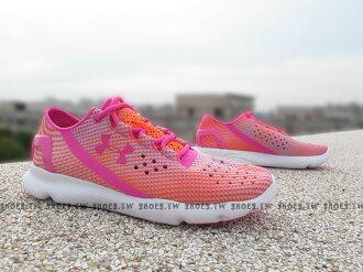 [23cm]《下殺7折》Shoestw【1268339-831】UNDER ARMOUR Speedform 慢跑鞋 桃紅 橘點點 女款