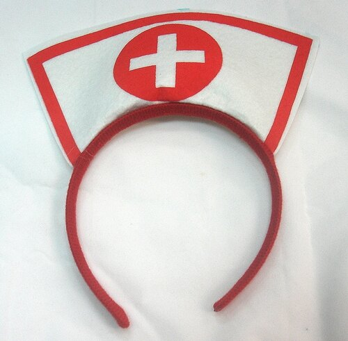 東區派對-,萬聖節服裝 / 護士服裝配件/護士服/ 護士帽/ 護士髮箍