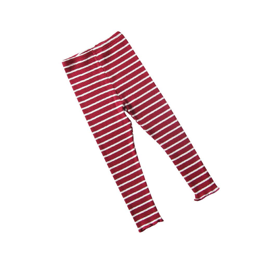 條紋內搭褲 男女童可穿 彈力針織打底褲 88204(好窩生活節) 2