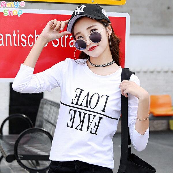 T恤 純棉長T 情侶裝 班服 MIT台灣製 可客製化◆快速出貨◆LOVE FAKE反字【YL0763】艾咪E舖 2