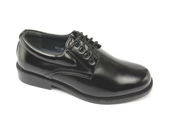 彩虹屋美鞋:*男皮鞋*時尚舒適圓頭排壓氣墊皮鞋77-A01(黑)☆【彩虹屋】☆