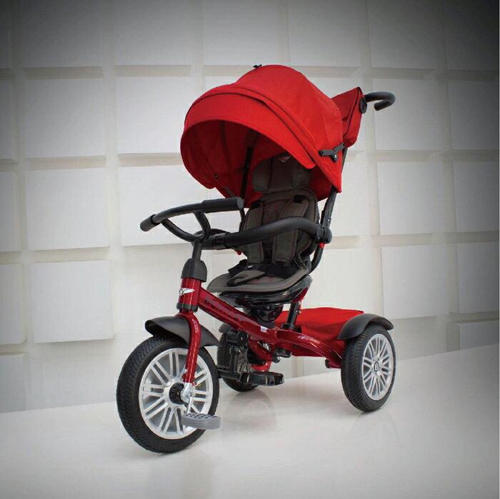 *babygo*賓利Bentley 嬰幼兒豪華三輪手推車-紅色 原廠授權