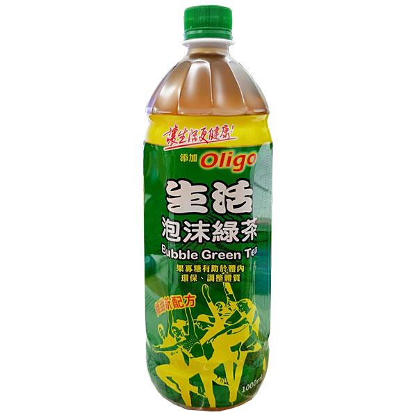 生活 泡沫綠茶 1000ml