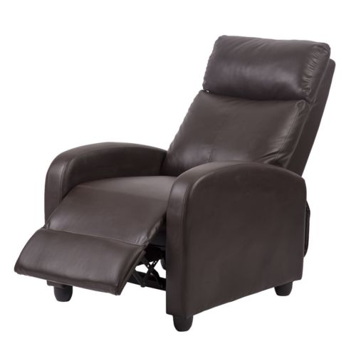 Recliner Chair Modern Leather Chaise Couch Single Accent Sofa 0