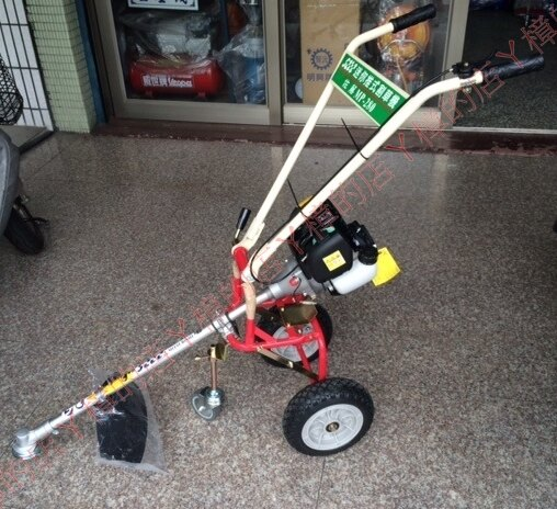 HONDA 本田 GX35 三輪 迷你 摺疊 推式割草機《四行程環保機種//不排放白煙》方便好收納(含稅價)