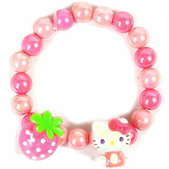 【真愛日本】16042800039串珠手環-KT全身七彩珠草莓  三麗鷗 Hello Kitty 凱蒂貓 手飾 飾品 正品 限量