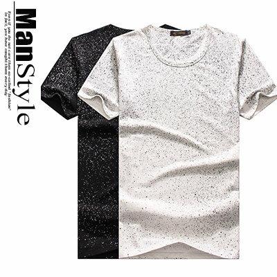 ~ ~ 2件699元~ManStyle潮流 滿版漸層潑漆點點圓領短袖T恤上衣男裝~01B7