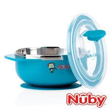 『121婦嬰用品館』Nuby 不鏽鋼吸盤碗(猴子藍)
